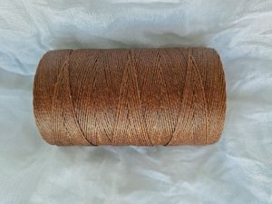 Crawford Wax Linen Walnut Brown 2 Ply