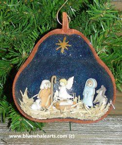 Gourd Ornament Nativity Scene