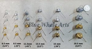24 pices 4 each size 6.5 - 19.5 2 gold 2 silver
